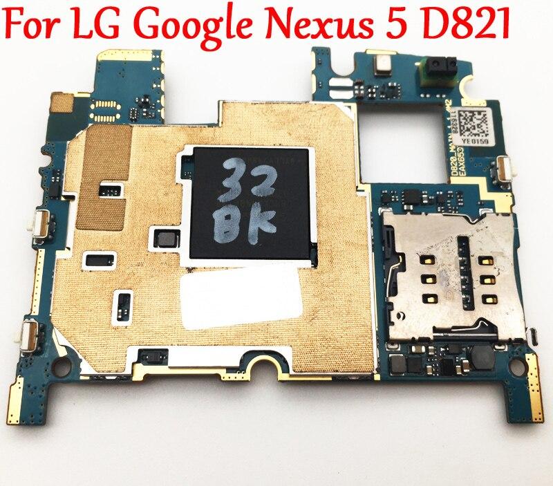 Tested Full Work Original Unlock Motherboard For LG Google Nexus 5 D821 Global Firmware Circuit