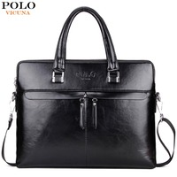 VICUNA POLO Luxury Business Men Leather Briefcase Famous Brand Casual Bolsa Masculina Man Handbag Hot Sell