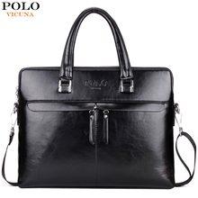78e020514a5e VICUNA POLO Luxury Business Men Leather Briefcase Famous Brand Casual bolsa  masculina Man Handbag Hot Sell Shoulder Bag For Men