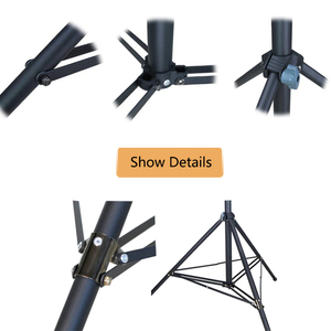 "Image 2 - 3m 2,2 m nivel láser fotografía trípode 1/4 ""interfaz negro soporte de extensión"