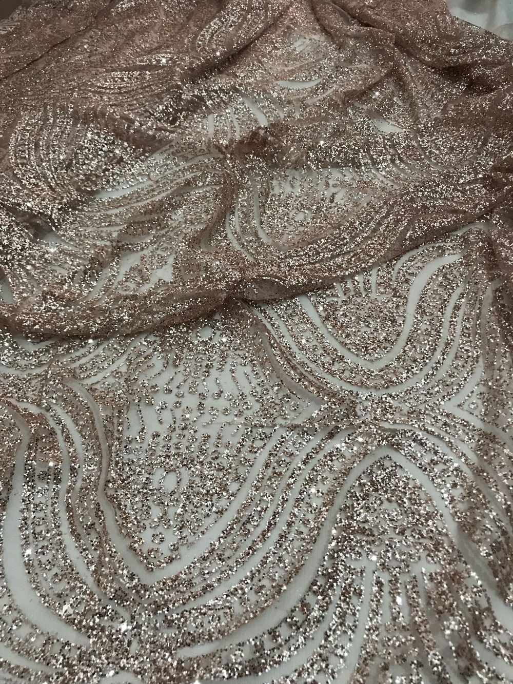 "1 MTR NEW SKY BLUE SCALLOPED BRIDAL EMBROIDERED LACE NET FABRIC 52/"" WIDE £8.99"