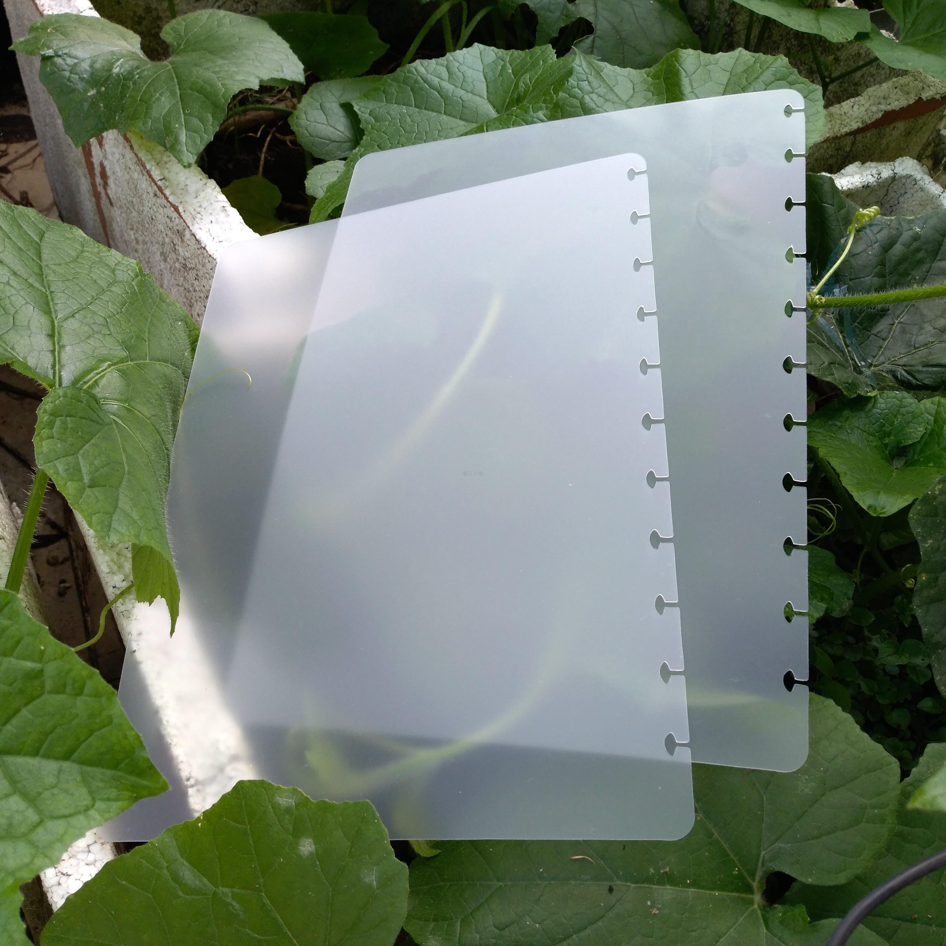 A4 Losbladige Vervanging Transparante Cover Film Disc Binding Cover - Notitieblokken en schrijfblokken bedrukken
