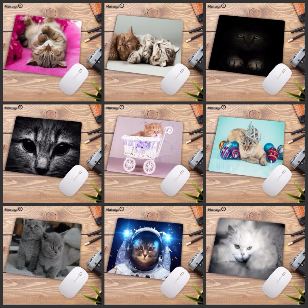 Mairuige22X18CM Mouse Pad Cute Cat Picture Anti-Slip Laptop PC Mice Pad Mat Mouse Pads For Optical Laser Mouse Gamer Mousepad