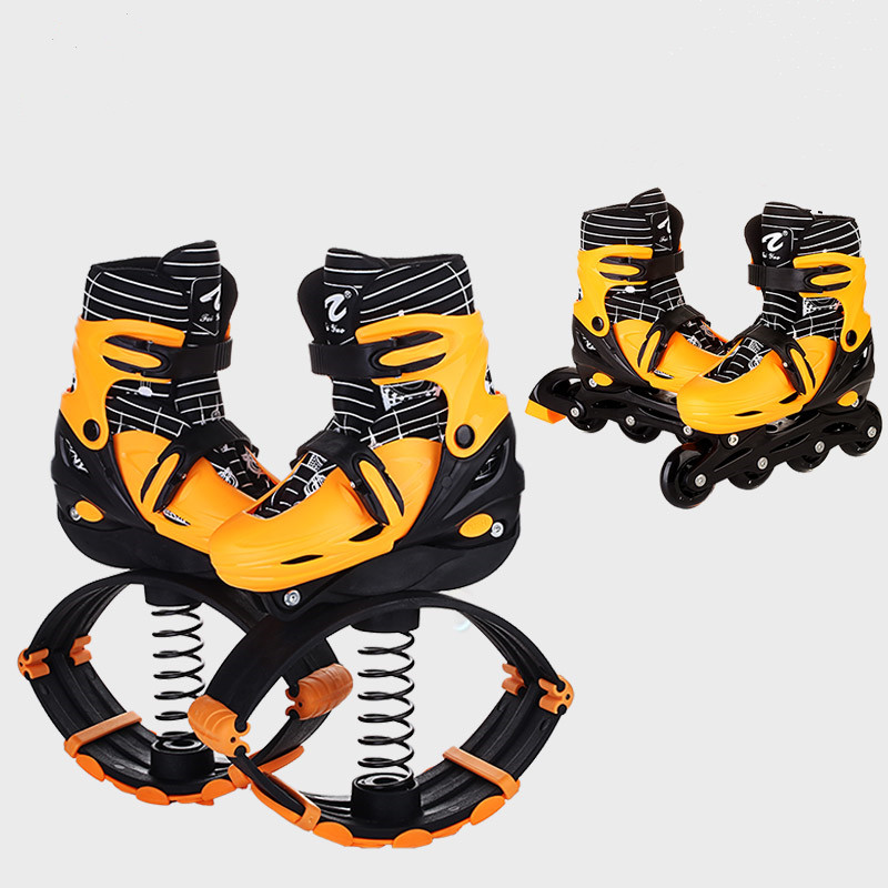 Здесь продается  2 In 1 Skate And Kangaroo Jump Shoes Fitness Exercise 30-50kg(66lb-110lb) Space Bouncing Shoes, factory outlet jump shoes  Спорт и развлечения