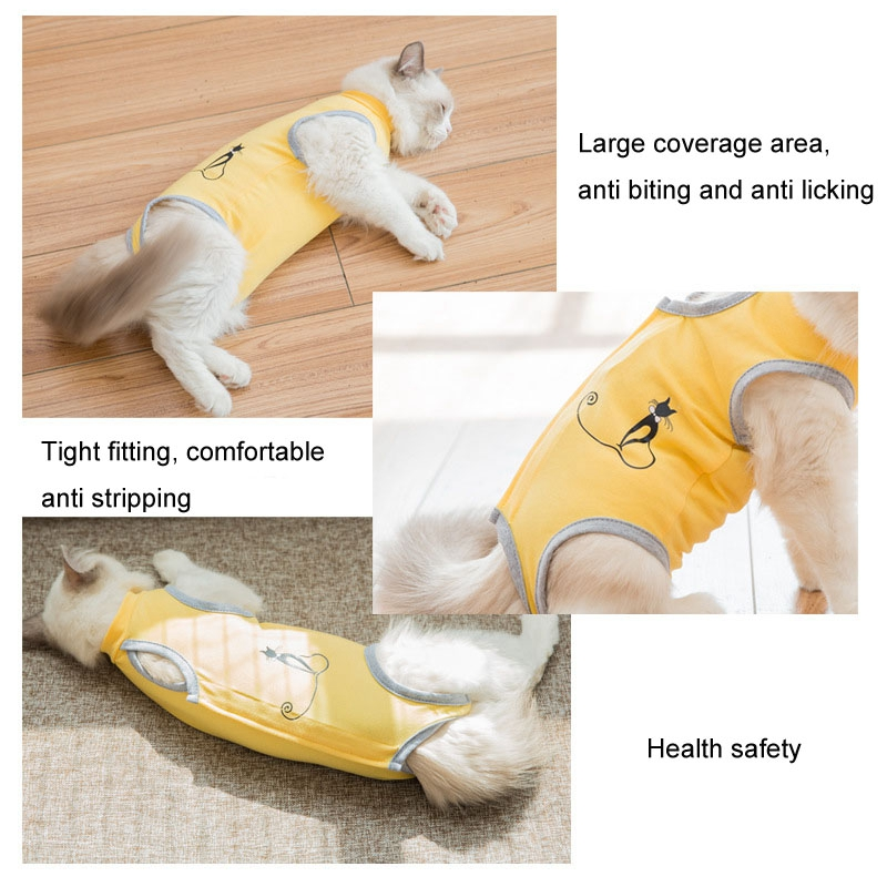 Practical Cat Sterilization Clothes Weaning Apparel Surgical Clothing 4 Designs Four-legged Anti-lick Cat Ablactation Clothes Cat Clothing Cat Supplies
