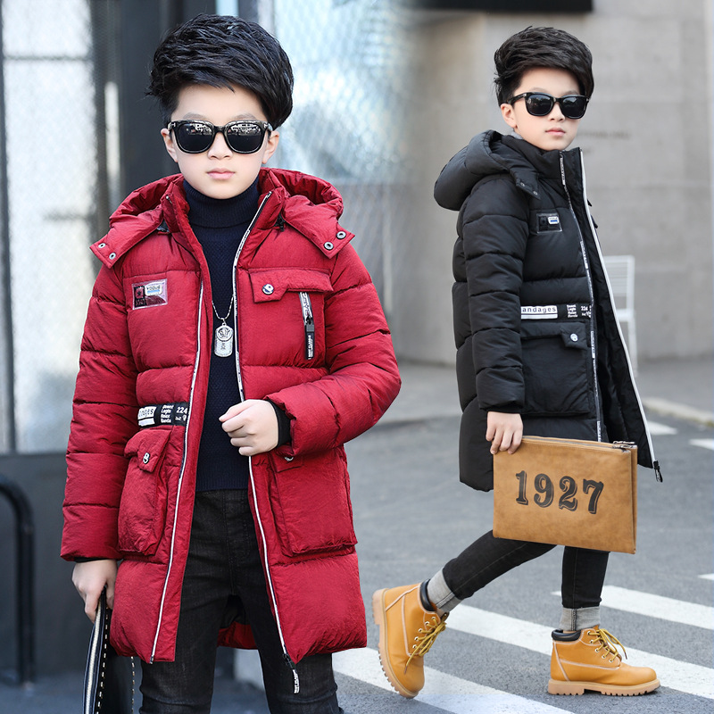 Winter Kids Cotton Padded Coat Boy Windbreaker Casual Long Section Warm Clothing Hooded Boys Jacket And Coat Outwear TZ99 золотые серьги ювелирное изделие 01c613249z