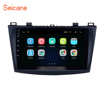 Seicane ROM 16GB Car 9 Inch Android 9.1 GPS Navigation Radio Multimedia Player for MAZDA 3 2009 2010 2011 2012 support TPMS 3G image