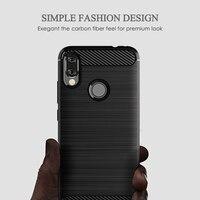 "soft tpu For Xiaomi Redmi Note7 Case Bumper Carbon Fiber Pattern Soft Silicone TPU Back Protective Cover Anti-fall Soft Shell 6.3"" (3)"