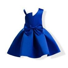 0acff7348 ZT1764 azul Arco-Nudo princesa vestidos niños prom vestido de noche dresss  boda Vestido niñas