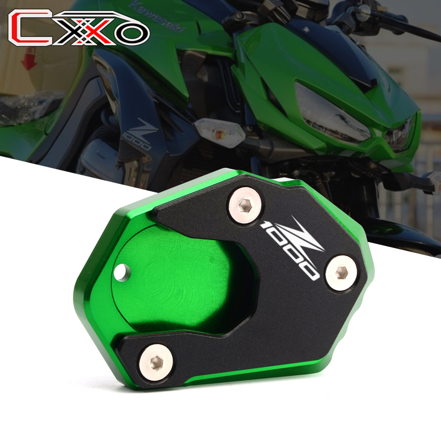 Latest Aluminum Kickstand Extension Pad Motorcycle Side Stand Plate For <font><b>KAWASAKI</b></font> Z1000 <font><b>Z1000sx</b></font> z1000 sx 2011-2017 2018 <font><b>2019</b></font> image