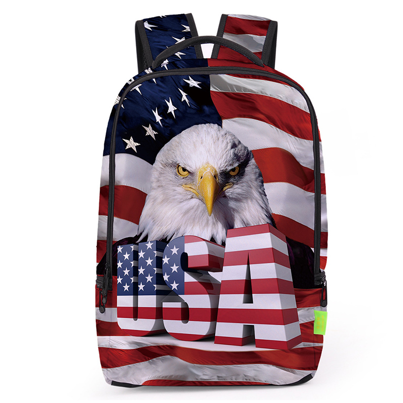 Zhierna Men's Pack Women's Backpack Bag The Us's Flag Pattern Double Shoulder Apply To School Leisure Shopping Occasion Fashion