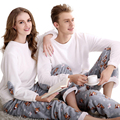 BXMAN 2016 Nuevo Arriavl Otoño e Invierno par de pijamas de franela de manga larga traje de pijama de terciopelo de coral con lindo simple estilo