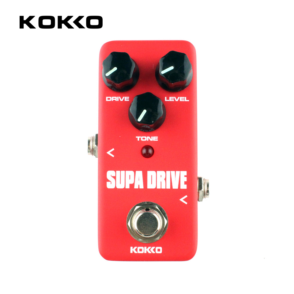 KOKKO FOD5 Supa Drive Classical Guitar Effects Pedal Guitarra Effects for Electric Bass Guitar Parts Accessories
