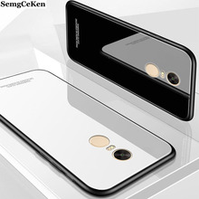 SemgCeKen luxury original hard glass mirror case for xiaomi redmi note 4 4x note4 silicone silicon back coque phone cover etui