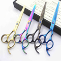 5.5 or 6.0 inch Professional Hair Scissors Set Straight & Thinning Barber Shears Colorful Salon Hairdressing Cutting Scissors