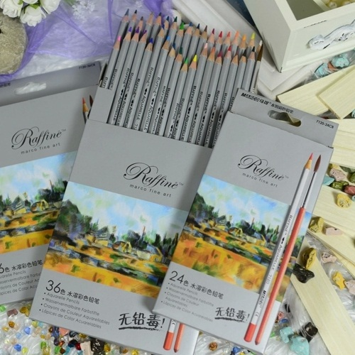 24/36 Colors Watercolor Pencils lapis de cor professional lapis escolar school paint water soluble color hydrotropic carton 24 36 colors watercolor pencils lapis de cor professional lapis escolar school paint water soluble color hydrotropic carton