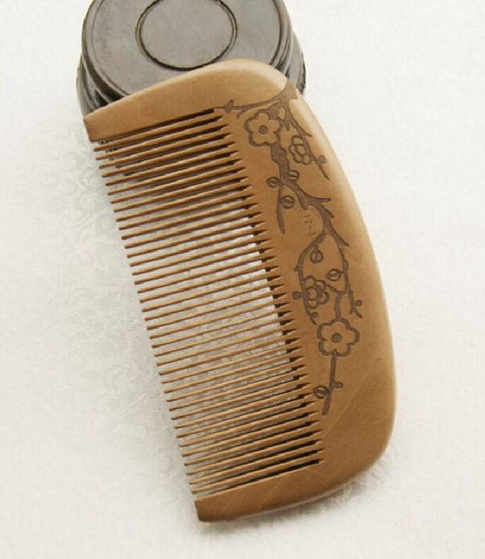 Old peach Wood Design Ensures No Static Even for Long Beards - Suitable....FH-10015 Size:11*5.5*1cm