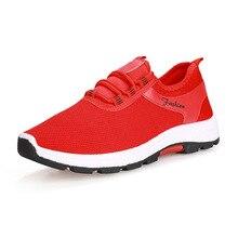 цены на YeddaMavis Red Sneakers 2019 Spring New Lace Up Running Shoes Casual Couple Models Hiking Shoes Comfortable Women Shoes Woman  в интернет-магазинах