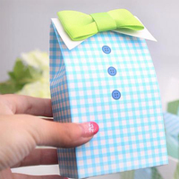 2016 New 20 Pcs Little Man Blue Green Bow Tie Birthday Boy Baby Shower Favor Candy