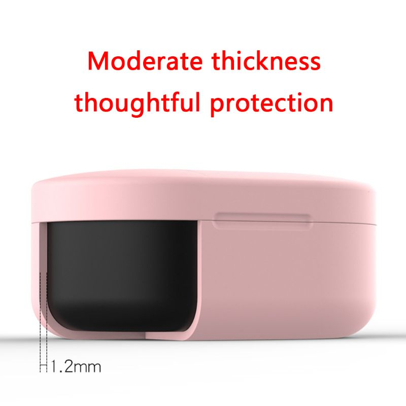 Image 3 - Clamshell Opening Anti shock Flexible Silicone Comprehensive Protective Case Full Cover for Xiaomi Redmi Airdots TWS Bluetooth E-in Earphone Accessories from Consumer Electronics