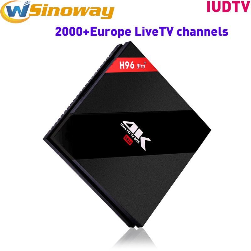 Sweden IPTV Box H96PRO 3G 32G with IUDTV code watch Arabic French Europe Spanish Portuguese Italian