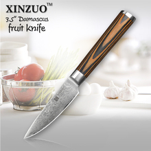 XINZUO HOT 3.5″ fruit knife Damascus kitchen knives Japanese vg10 paring knife damascus steel table parer knife FREE SHIPPING