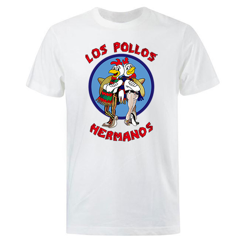 Men's Fashion T-Shirts 2019 Summer LOS POLLOS Hermanos T-shirt Men Chicken Brothers Short Sleeve TShirt Hipster Hot Sale Tops
