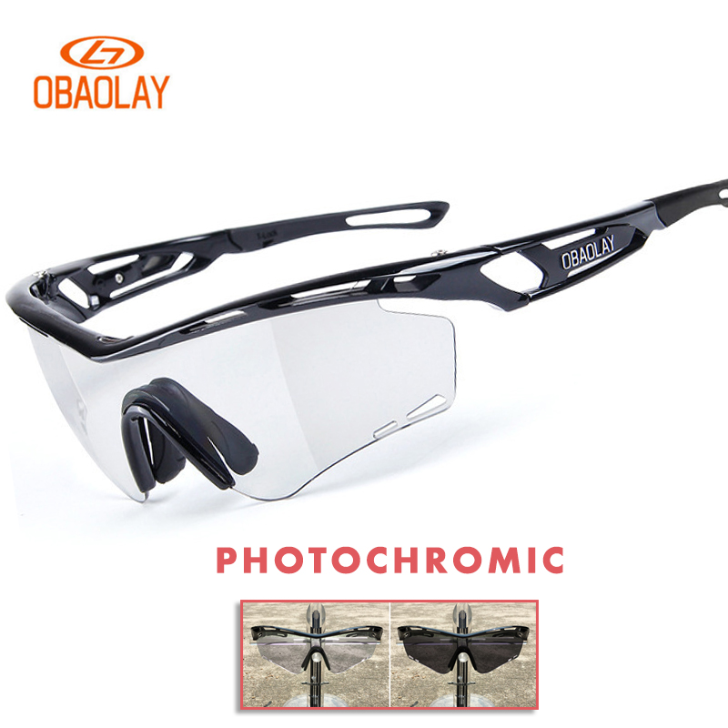 Obaolay Photochromic Cycling Glasses Polarized Man Woman Outdoor Bike Sunglasses Night Driving glasses MTB Bicycle Eyewear outdoor eyewear glasses bicycle cycling sunglasses mtb mountain bike ciclismo oculos de sol for men women 5 lenses