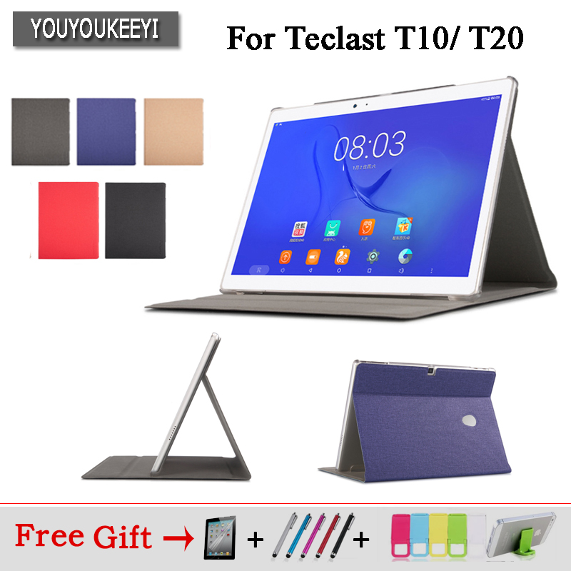 High quality Business Pu Leather Protective Case Stand Cover For Teclast T20 T10 10.1inch Tablet+protector film+Stylus as gifts pu leather case stand cover for digma optima 1507 optima 1105s optima 1104s tablet pc screen protective film stylus pen