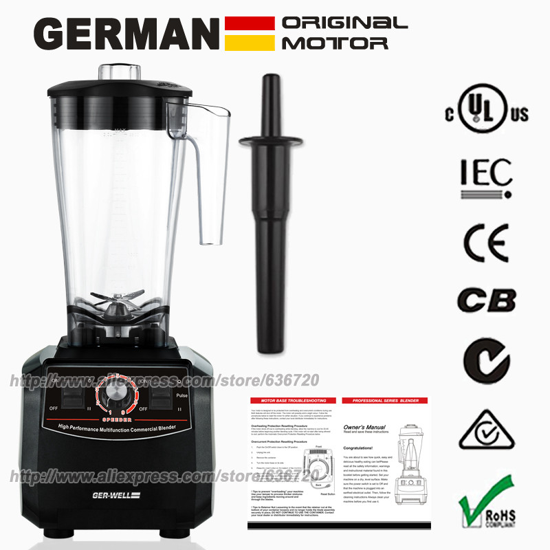 BPA-Free High-Performance Food Processor For Smoothies Heavy Duty .Blac 3HP 45000RPM 2200W 3L 96-ounce