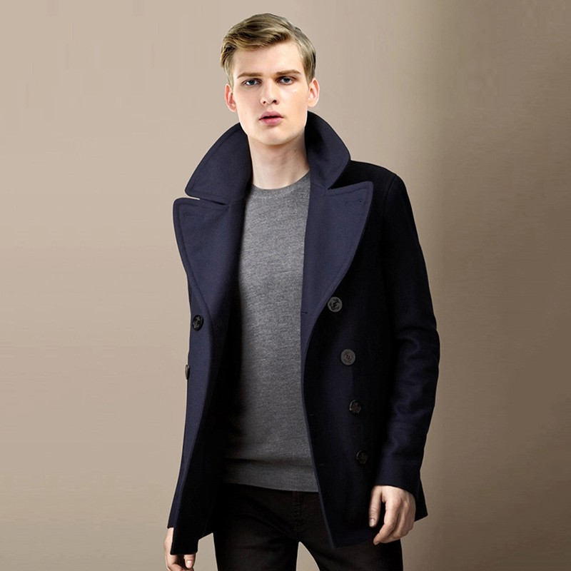 Aliexpress.com : Buy Naval Style Men Short Coat Long Sleeve Solid ...