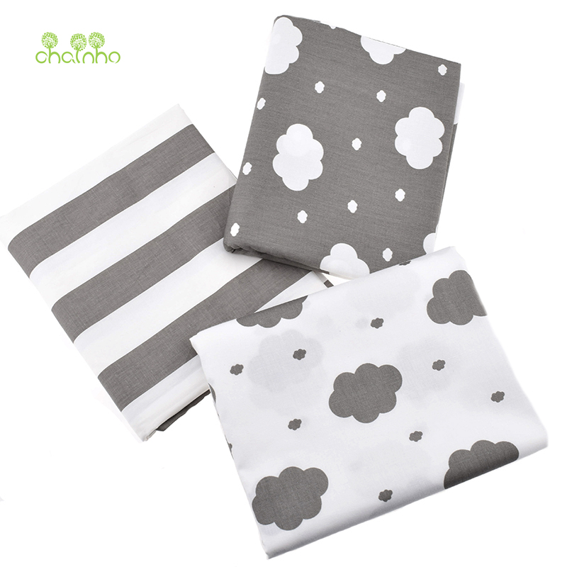 √Nubes impreso tejido de algodón para coser cielo gris tejido cama ...