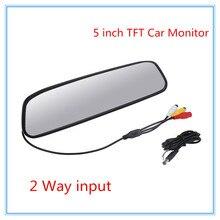 480×272 5 «Цветной TFT LCD Автомобиля Зеркало Заднего Вида Монитор экран формата 16:9 DC 12 В Монитор автомобиля