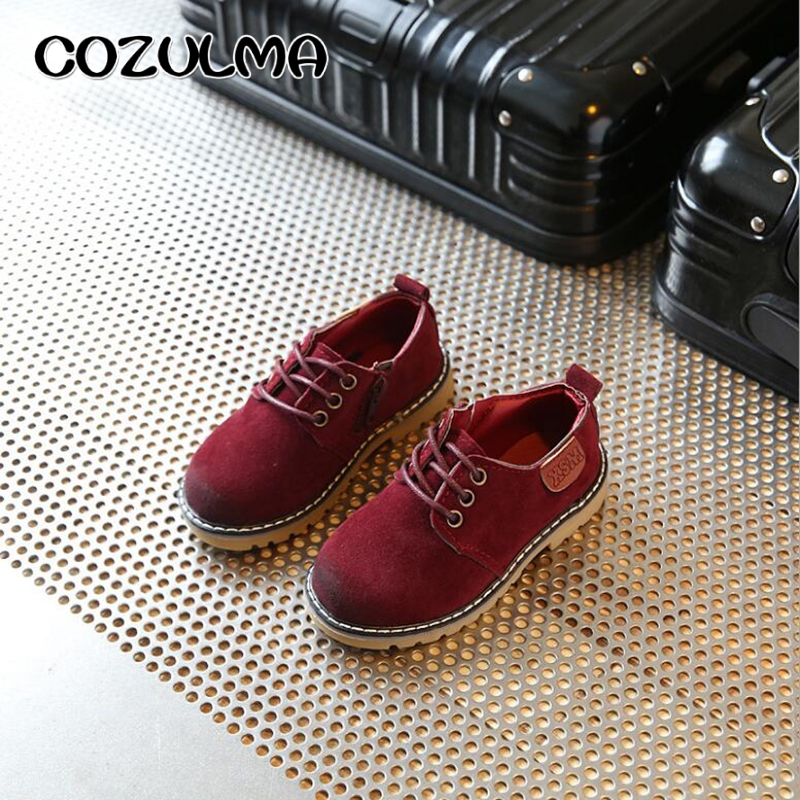 COZULMA Boys Girls Sneakers Lace Up Läder Barn Mode Sneakers - Barnskor - Foto 5
