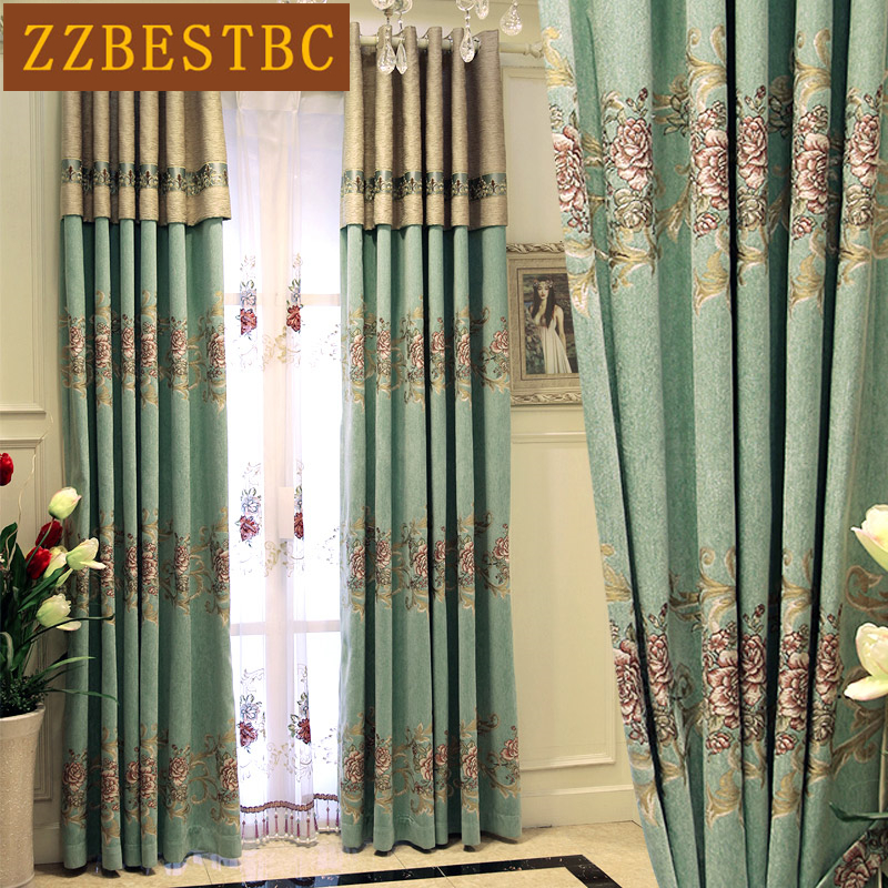 Classic royal European style jacquard Blackout curtains for Bedroom/Hotel high-end custom luxury curtains for Living Room/Window window valance