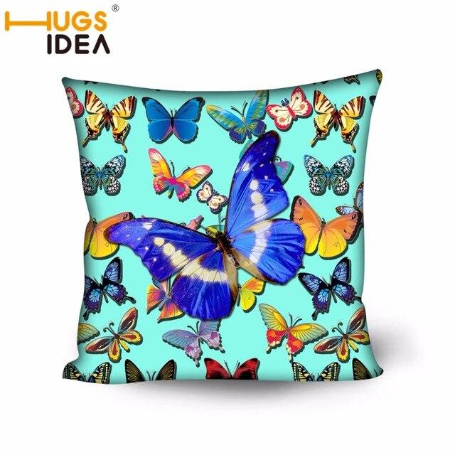 HUGSIDEA Schmetterling Designer Hause Sofakissen Pfau Dekokissen Stuhl Schlafzimmer  Haus Dekorative Waschbar Auto Kissen Amortiguar
