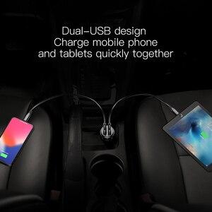 Image 5 - Baseus qc 3.0 carregador rápido turbo usb carregador de carro 3.0 duplo usb metal carro carregador do telefone móvel para iphone samsung huawei carregador