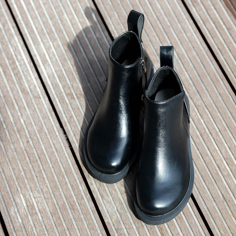 Martin 2019 Zapatos 1 Otoño 39 Cremallera 35 Cabeza Mujer Mujeres Talón Tamaño 2 Primavera Casual Botas De Gran Tobillo Redonda Med rBwrOqx