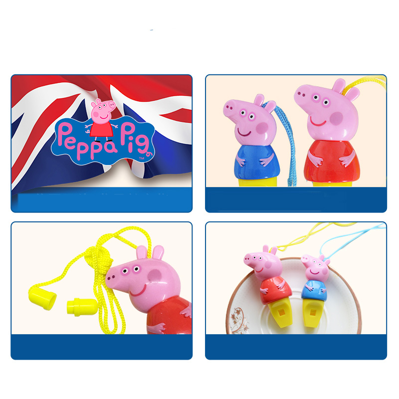 Toys & Hobbies Hot Sale 1pcs Peppa Pig Cartoon Toy Figure Whistle Anime Peppa Pig 8cm Musical Action Figure Toy Kids Birthday Party Gifts