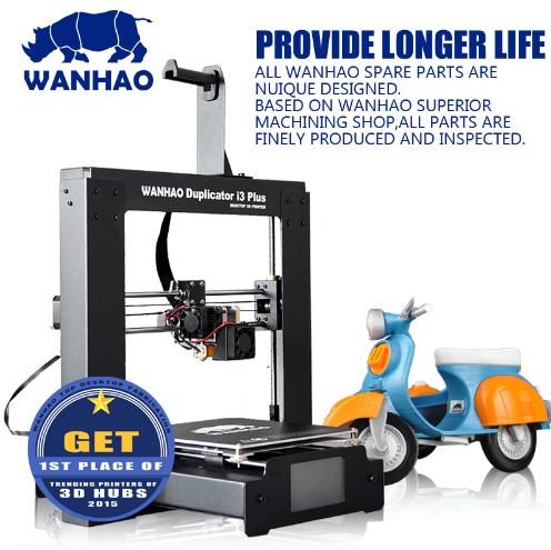 Wanhao 3D Printer Duplicator I3 PLUS Steel Frame Desktop 3D printing flsun 3d printer big pulley kossel 3d printer with one roll filament sd card fast shipping