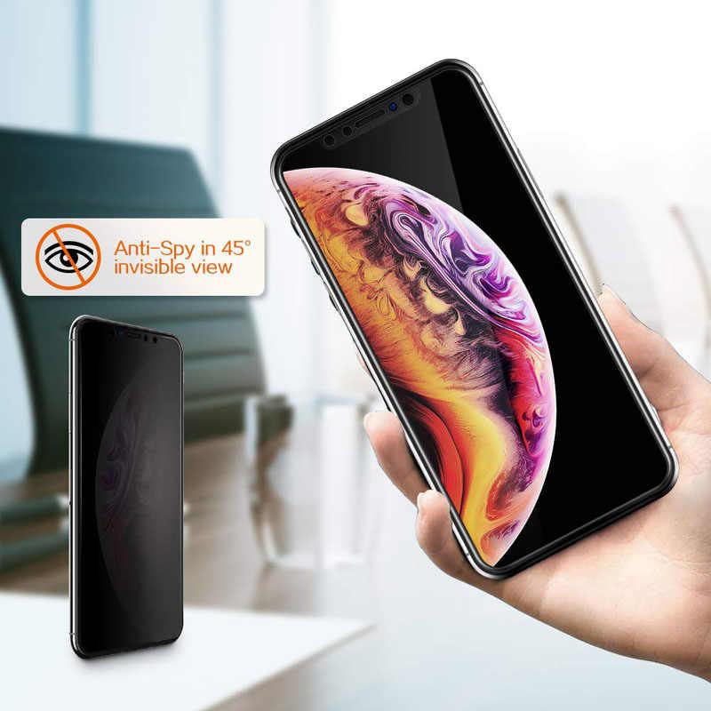 Magtim ฝาครอบส่วนตัวสำหรับ iPhone X XS MAX XR Antispy กระจกนิรภัยสำหรับ iPhone 11 6 7 8 Plus ความเป็นส่วนตัว