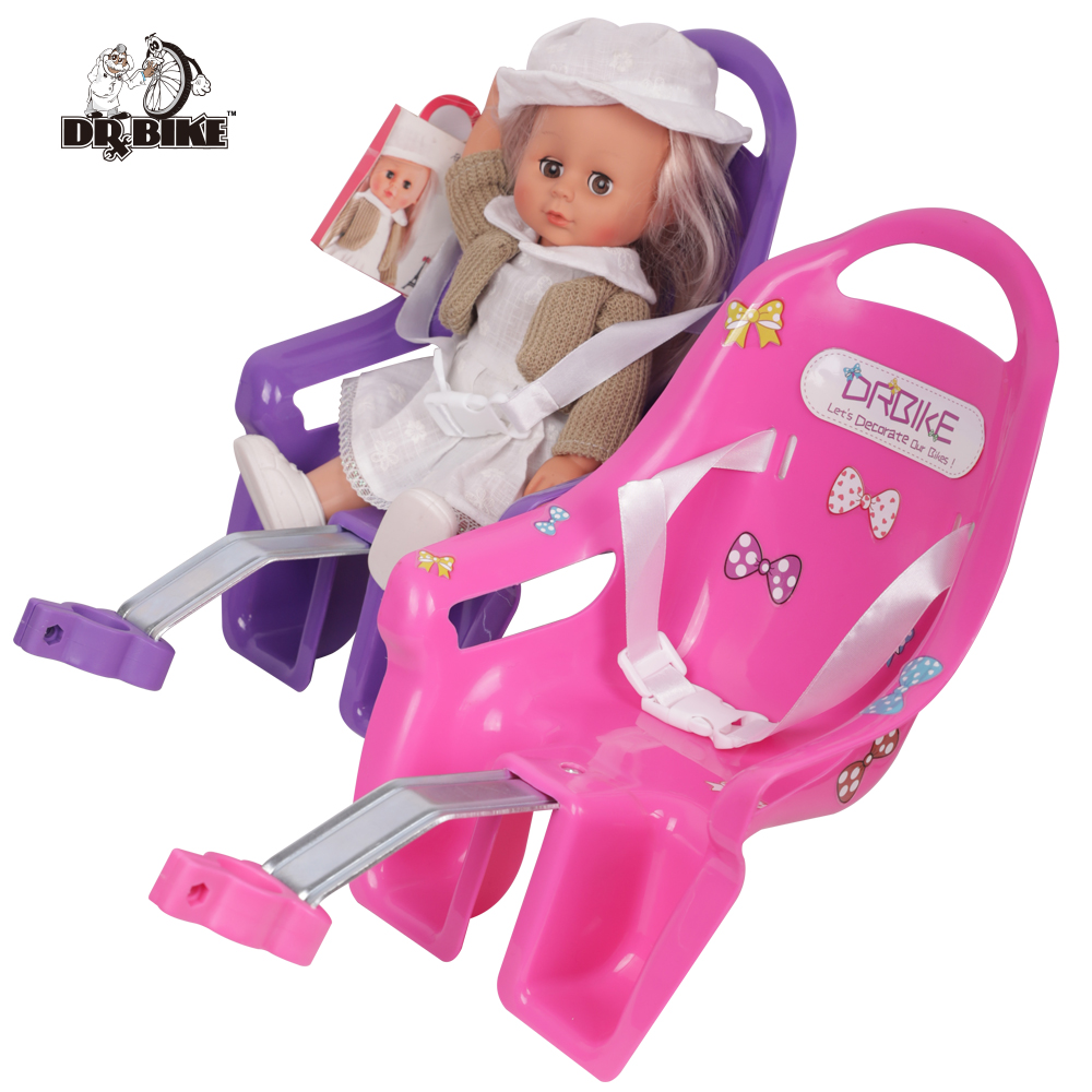 DrBike Kids Bike Seat Post Doll Seat with Holder for Kid Bike with Decorate Yourself Stickers|Bicycle Saddle| |  - title=