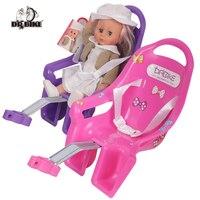 DrBike rower dla dzieci zacisk sztycy siedzisko dla lalek z uchwytem na rower dla dziecka z ozdobnymi naklejkami w Siodełka rowerowe od Sport i rozrywka na