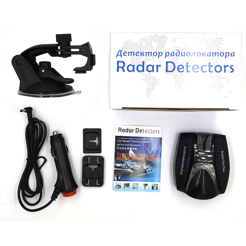 Yashianda V4 Car Radar Detector Head Radar Tachometer Wireless Mobile Speed Voice Alert Warning Car Detector English Russian