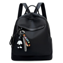Bags For Women 2019 Casual Wild Fashion Backpack Simple Portable Lady Travel Bag Mochila Mujer Pure Black Storage