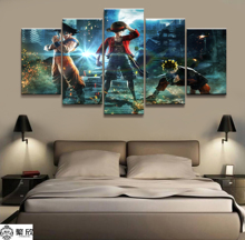 Home Decor Modular Canvas Picture 5 Piece Naruto One Dragon Ball Painting Poster Wall For Wholesale