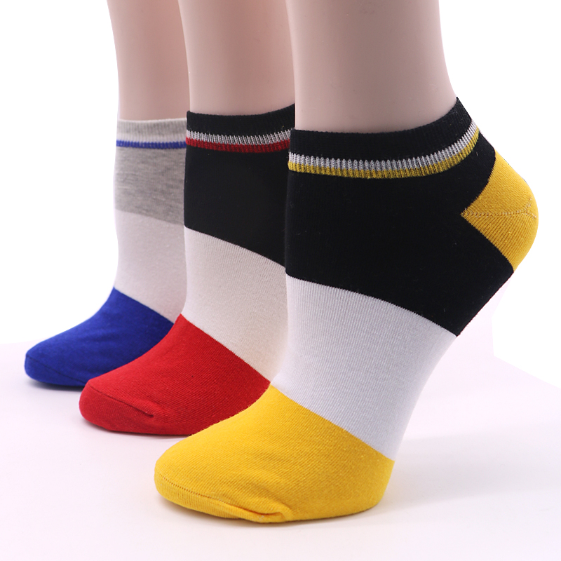 3Pair New Arrivals Cotton Blends Men Socks Good Quality Short Socks Warm Stitching Color Antiskid Invisible Casual Socks Male