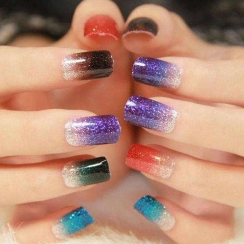 100g/bag 12 Colors Glitter Powder Nail Art Accessories