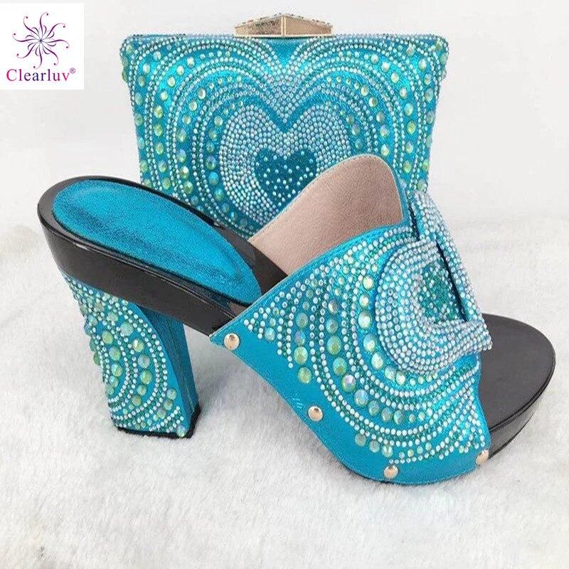 Ciel Et Ensemble En rouge Femme Talons De Rivet or Pu Mariage Style vert Européenne Chaussures Italien Hauts Dames Cuir Sac Pour rose 50SqTnxwtg