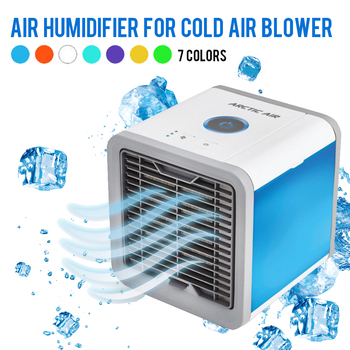 USB Mini Portable Air Conditioner Humidifier Purifier 7 Colors Light Desktop Air Cooling Fan Air Cooler Fan for Office Home grille